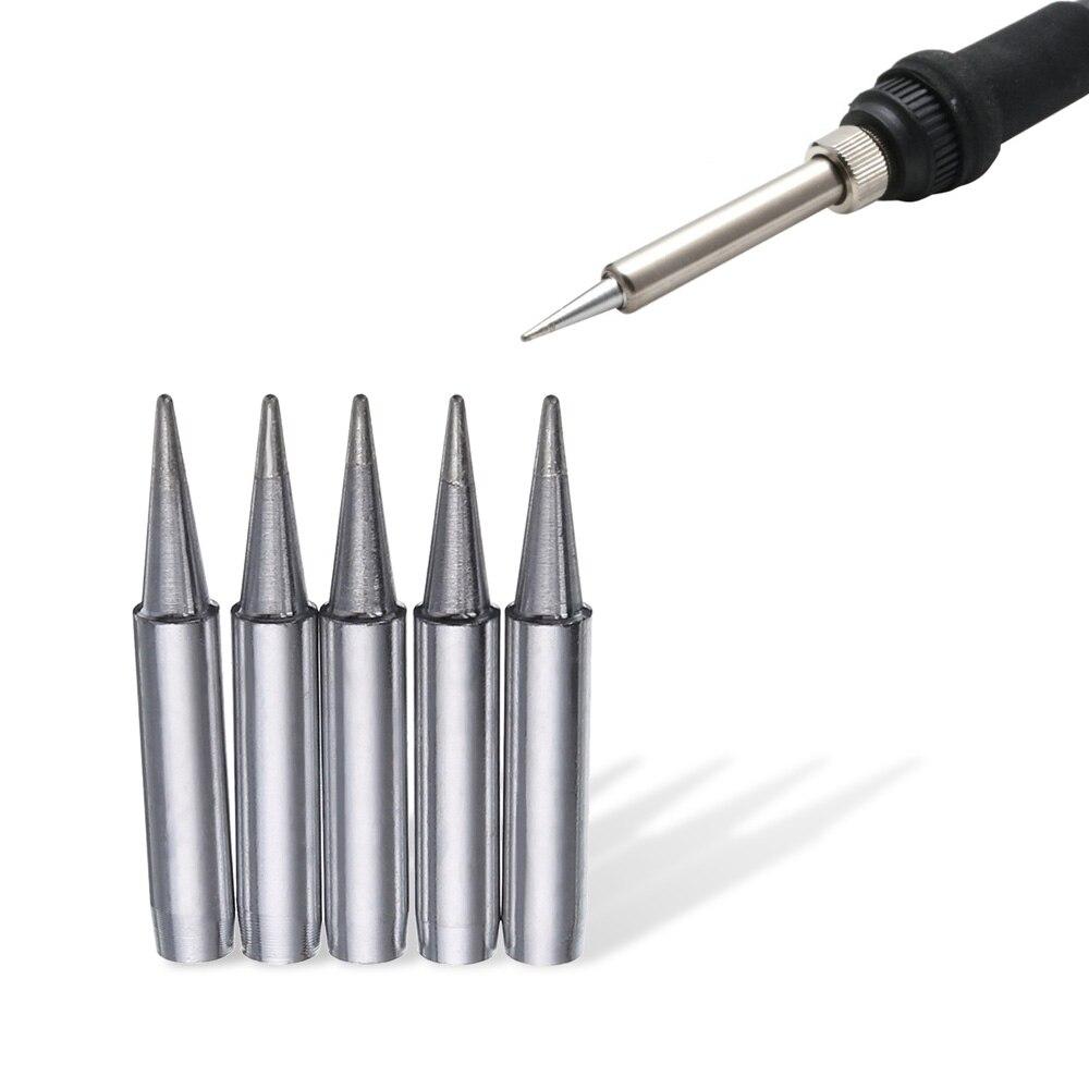 5Pcs 900M-T-B Soldering Solder Iron Tips for 936//937//938//969 Soldering Rework