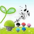 Portable Bluetooth Speaker Mushroom Mini Wireless Speaker Stereo Music Player Audio Suck Disc Bracket for Mobile Phone Free Ship