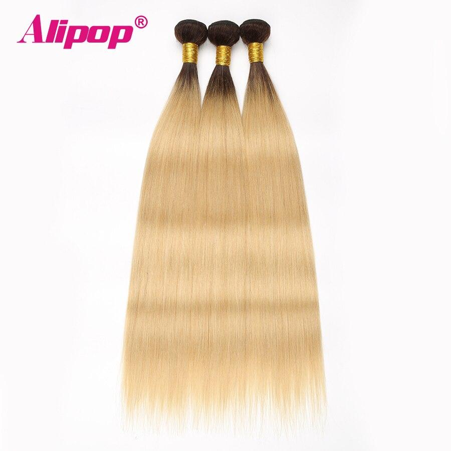 ALIPOP T1B 613 Brazilian Straight Human Hair 34 Bundles Deal Ombre Blonde hair weave bundles Non Remy Human Hair Extensions (1)