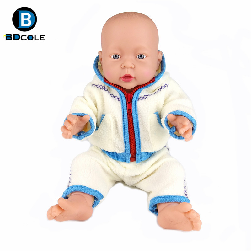 2 Color Blue and Pink Lifelike Newborn Baby Doll Zipper coat for 40-43cm 15-17inches Zapf Doll and Sharon Doll Clothes Toy 3 color red pink blue cherry cardigan coat