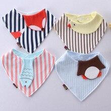 Стиль; детские нагрудники с животными из мультфильмов; Бандана с тигром; полосатый треугольный шарф для новорожденных; хлопковый нагрудник для кормления