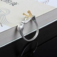כסף סטרלינג 925 Hummingbird גבירותיי טבעת פתיחת טבעות לתכשיטי אופנה נשים בעבודת יד בצבע זהב-bague femme אנל