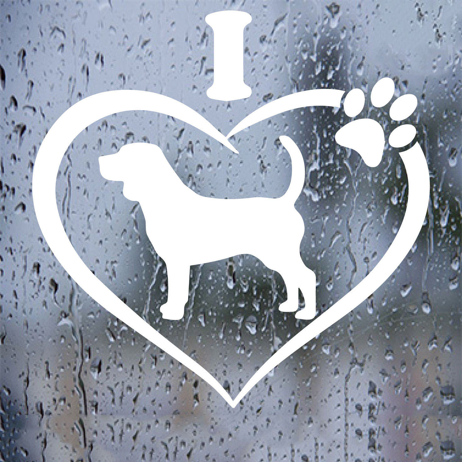 I Love My Beagle Sticker decal Dog vehicle laptop windows car Aufkleber ...