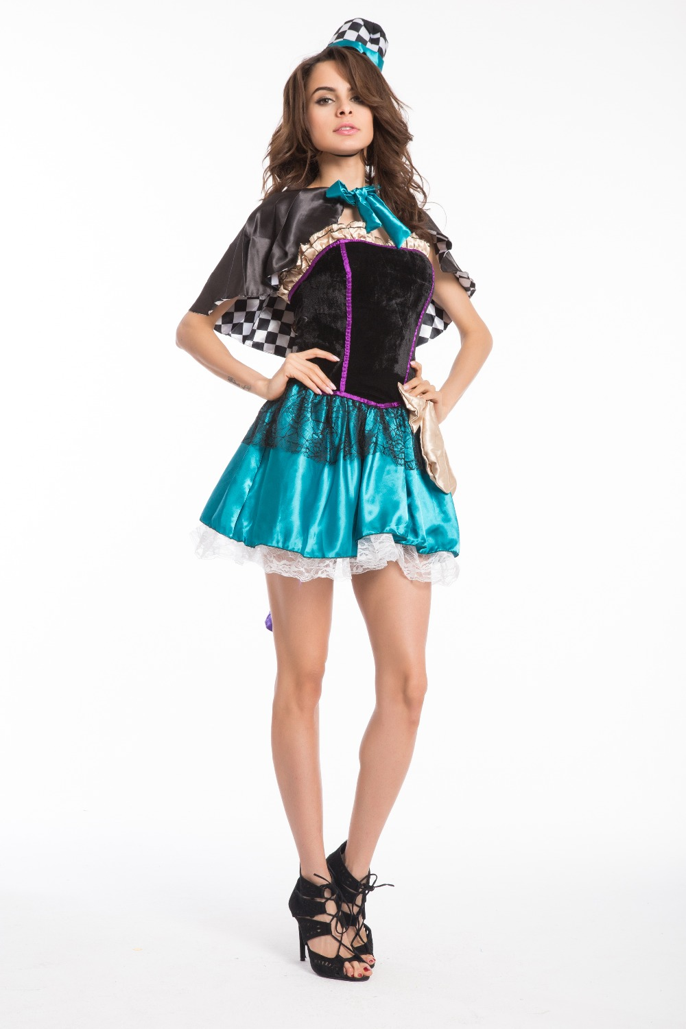 fddd3555f6 US $31.88  FREE SHIPPING Mad Hatter Costume Tea Party Alice In Wonderland  Fancy Dress Party Outfit 400-in Sexy Costumes from Novelty & Special Use on  ...