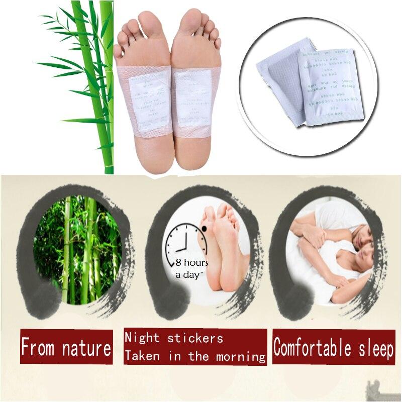 10 قطعة = 5 حزم مع Adhensives Kinoki السموم رقع القدم الخيزران منصات تعزيز الدورة الدموية و النوم-في القدم من الجمال والصحة على  مجموعة 1