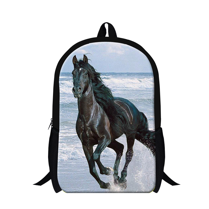 New design plush horse school backpack for teens,cool primary student animal back pack boys 3D bookbag,leisure schoolbag bagpack