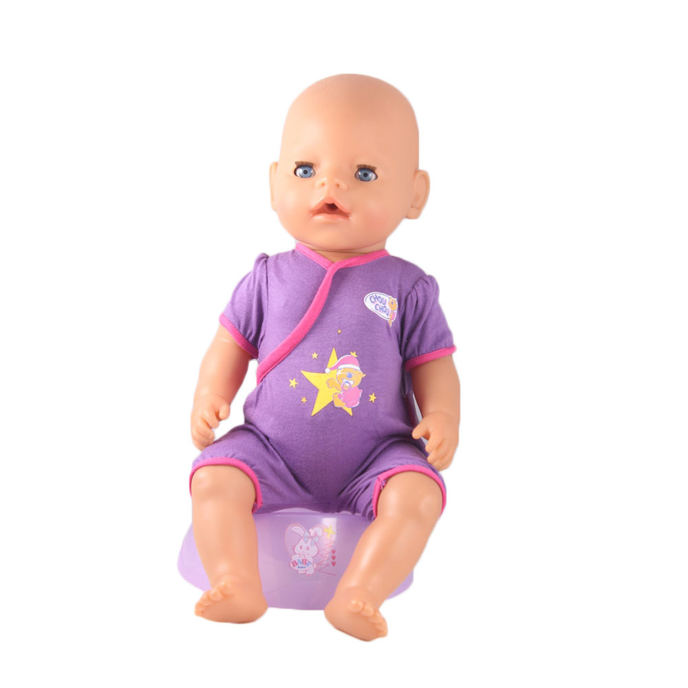 sport Purple Jumpsuit doll clothes Wear fit 43cm Baby Born zapf, Children best Birthday Gift(only sell clothes) 3color choose high quality dress wear fit 43cm baby born zapf children best birthday gift only sell clothes