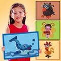 5 Шт./лот 23*17 См Смял Цветной Бумаги Живопись Рисунок Игрушки Бумаги DIY Детские Развивающие Игрушки Для Детей На День Рождения подарки Для Детей