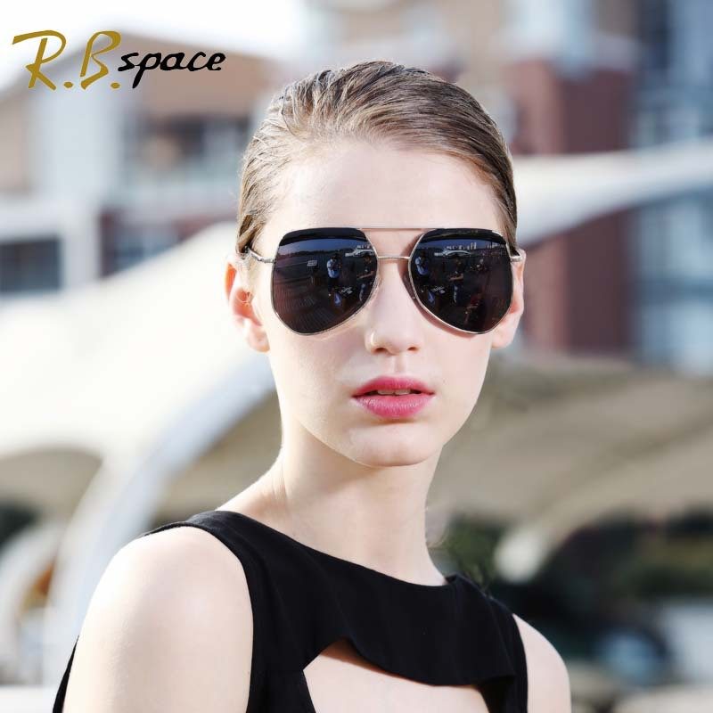 Impartial Rbspace Big Frame Women's Sunglasses Individuality Glasses Tide Brand Tortoise Men's Sunglasses Driving Glasses Designer Brands