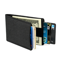 Men Slim   Wallet   Thin Mini   Wallets   Rfid Nylon Bifold Small Money Clip Clutch Credit Card Sleeve Cardholder Pocket Handy