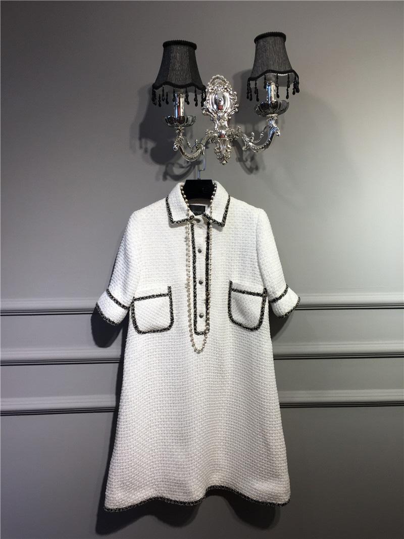 women elegant office dress,custom plus size xs-6xl,tweed winter dress,ladies vestidos de fiesta,tweed autumn White dress 1