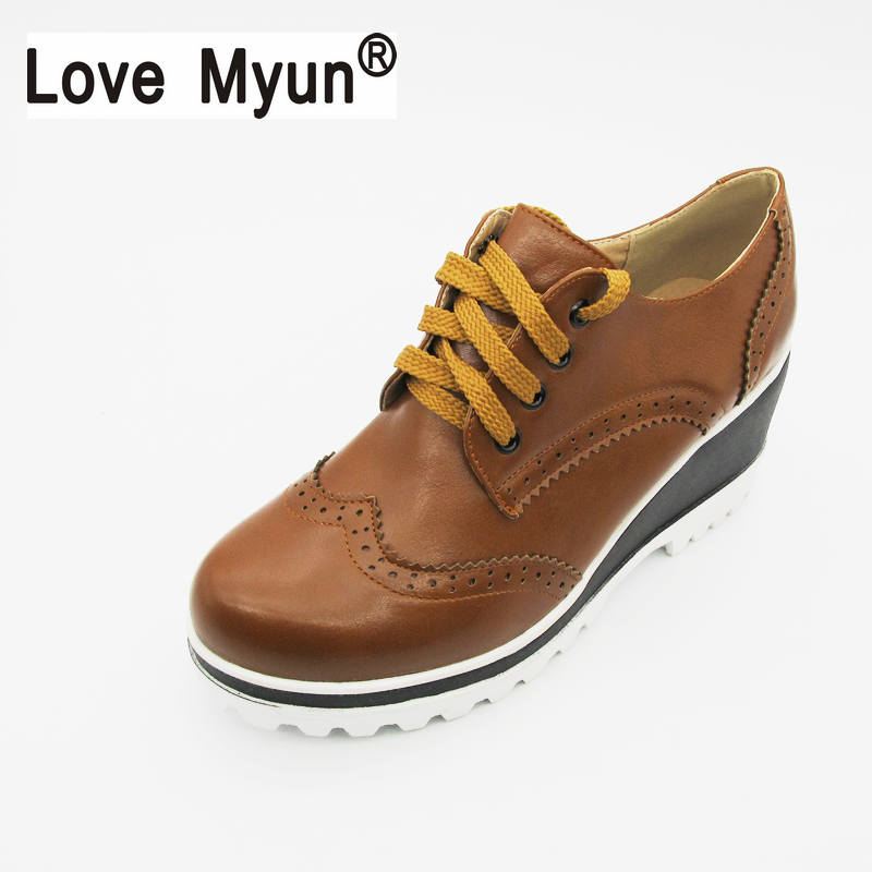 Women Pu Leather Plain Toe Lace-up Ladies Shoes Flats Moccasins Casual Footwear