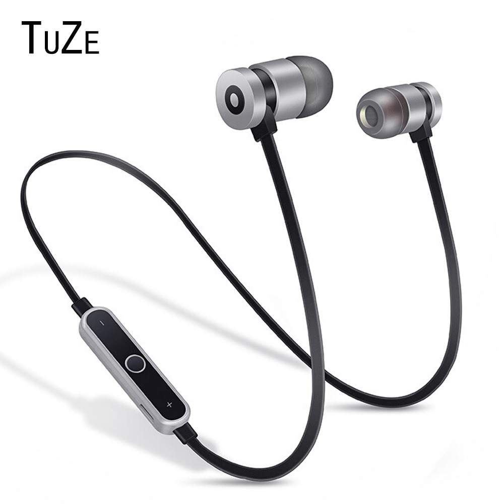 TuZe HK-B1 Neckband Bluetooth Earphone Wireless headphone For Xiaomi iPhone earbuds stereo auriculares fone de ouvido with MIC new arrival sports fone de ouvido earphone awei a890bl wireless bluetooth earphones audifonos with microphone for xiaomi iphone