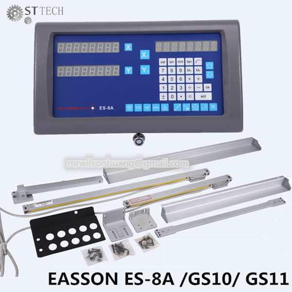 Free shipping Easson ES 8A complete set 2 axis DRO digital readout and 2 pcs GS10