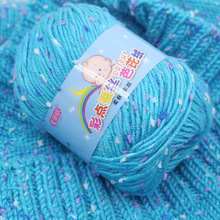 Alta qualidade bebê algodão caxemira fio para a mão tricô crochê fio de lã adornada colorido eco tingido needlework