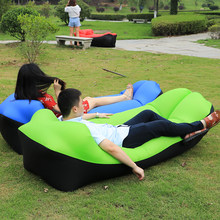 2019 Trend Outdoor Products Fast Infaltable Air Sofa Bed Good Quality Sleeping Bag Inflatable Air Bag Lazy bag Beach Sofa Laybag(China)