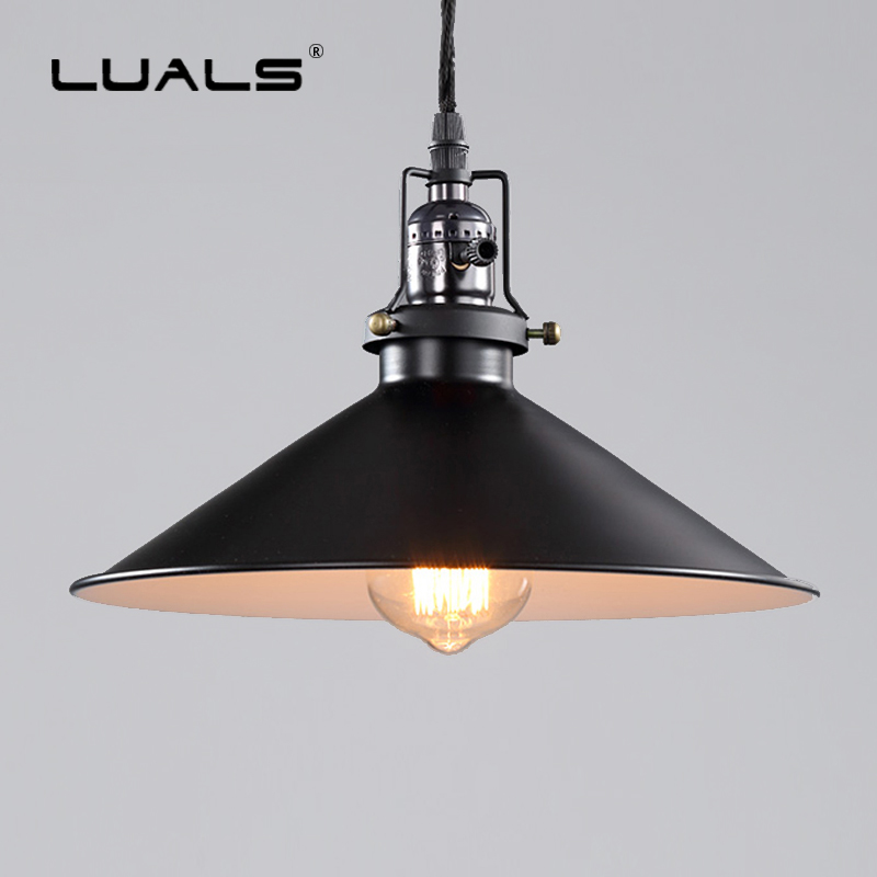 LOFT Vintage Hanging Lamps Iron Lampshade Suspension Luminaire Edison Lamp Industrial Style Pendant Light Art Indoor Lighting vintage hanging lamp e27 iron lamps bar art suspension luminaire indoor led pendant lights green iron lampshade pendant lighting