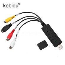 Kebidu USB 2,0 zu RCA usb adapter konverter Audio Video Capture Card Adapter PC Kabel Für TV DVD VHS erfassen gerät