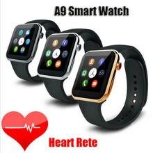 A9บลูทูธกีฬาโทรศัพท์มือถือนาฬิกาข้อมือสมาร์ทอัตราการเต้นหัวใจเคาน์เตอร์Mateร้อนใหม่แคลอรี่สำหรับA Ndroid ip hone iOS