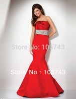 free shipping 2014 new design vestidos Formal robe de soiree Elegant sexy long Mermaid red girl party gown prom evening Dress