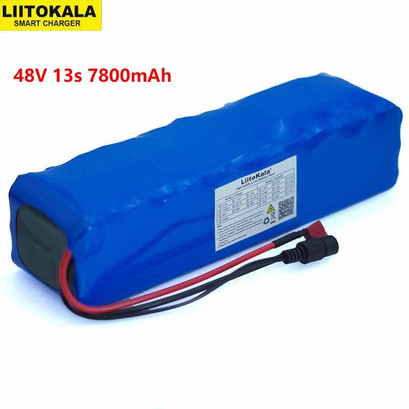 LiitoKala 48V 7 8ah 13s3p High Power 7800mAh 18650 Battery Electric Vehicle Electric Motorcycle DIY Battery