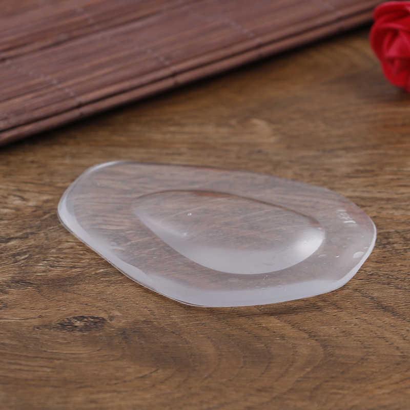 1 par transparente silicone meia pé almofadas massagem pés palmilhas sapato arco almofadas de apoio