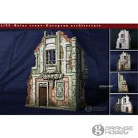 OHS CrazyKing DY35002 1/35 Ruins Scene European Architecture 2nd Ver. Assembly Resin Miniatures Accessories Model Kits oh