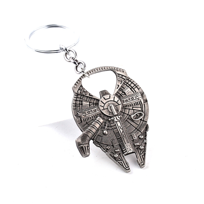 Star Wars Key Chain Big Size Men Boy Falcon Empire Star Expelled Ships Lightsaber Beer Bottle Opener Key Chain Bag Accessories