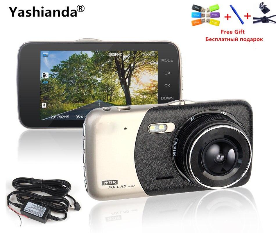 Yashianda Car DVR Camera 24H Monitor 4.0 Inch IPS Screen 32G Dash Camera Full HD 1080P Video 170 Degree Vehicle Camera