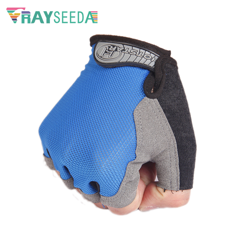 Rayseeda Half Finger Summer Riding Bike Gloves Anti-Slip Breathable Bicycle Cycling Glove For Men Women's Fitness Running Sports