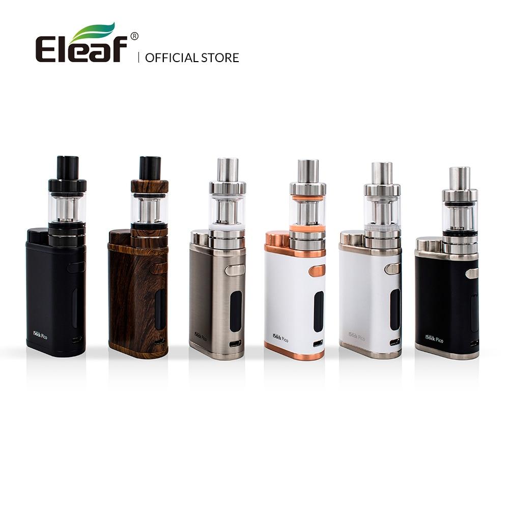 Original Eleaf iStick Pico Kit with 2ml MELO III Mini Atomizer Or 4ml Melo  3 Atomizer Output 75W Box Mod in EC Head E-Cigarette