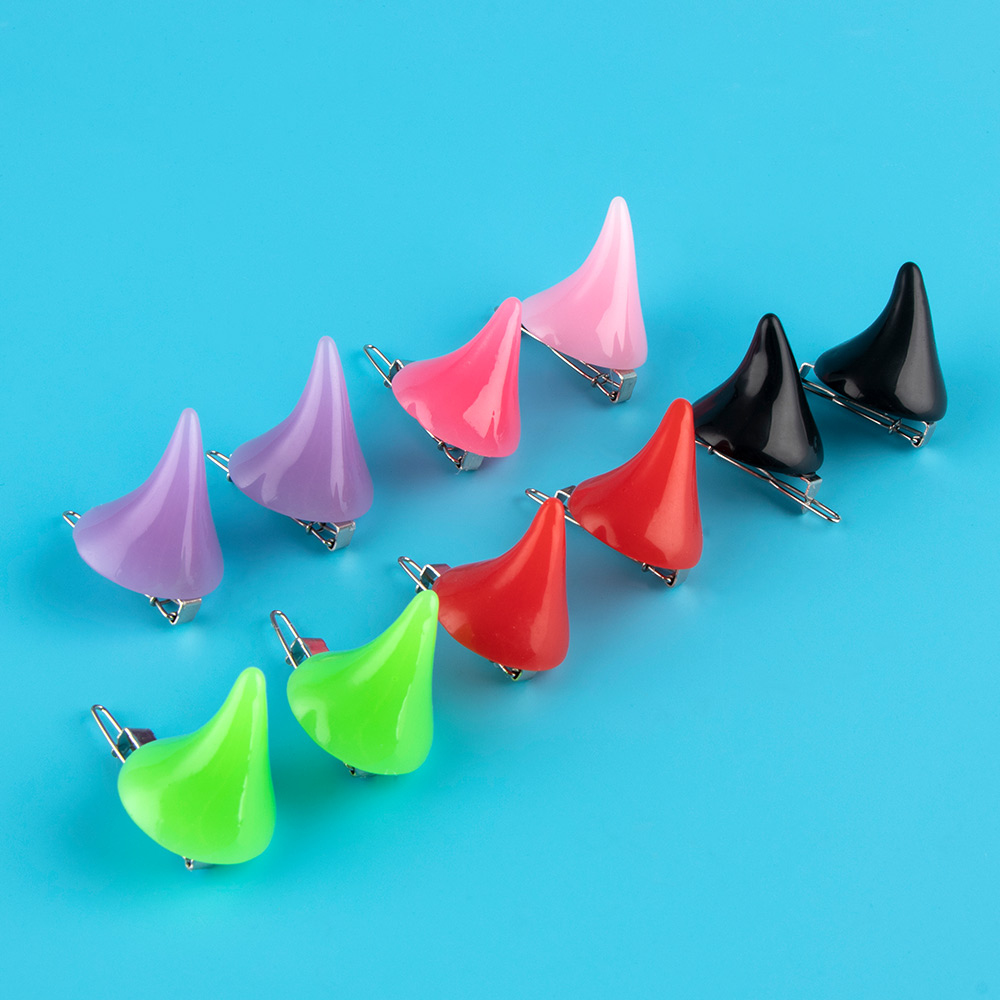 1 Pair Cosplay Costume Horn Halloween Hair Accessories Clip Hair Accessories Hair Clip Hair Styling 5 Colors