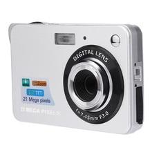 2019 2.7HD Screen Digital Camera 21MP Anti-Shake Face Detection Camcorder Black white   28#