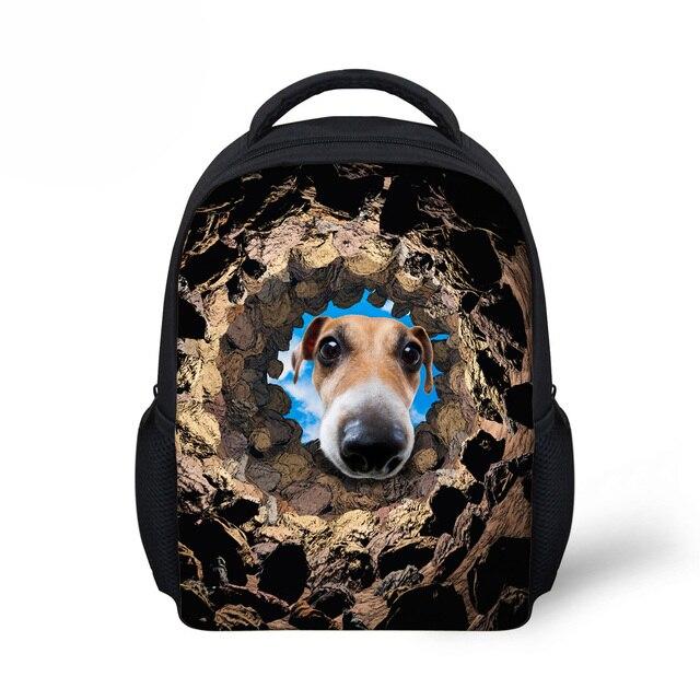 9d8ee45a357 Cool Animals School Bags for Boys Funny Dog Print Girls Schoolbag Children  Kindergarten Bag Kids Mini Bookbags Mochila