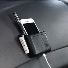 Горячая распродажа универсальный держатель сотового телефона для автомобиля черный держатель для мобильного телефона карманный органайзер для автомобильного сиденья сумка для хранения