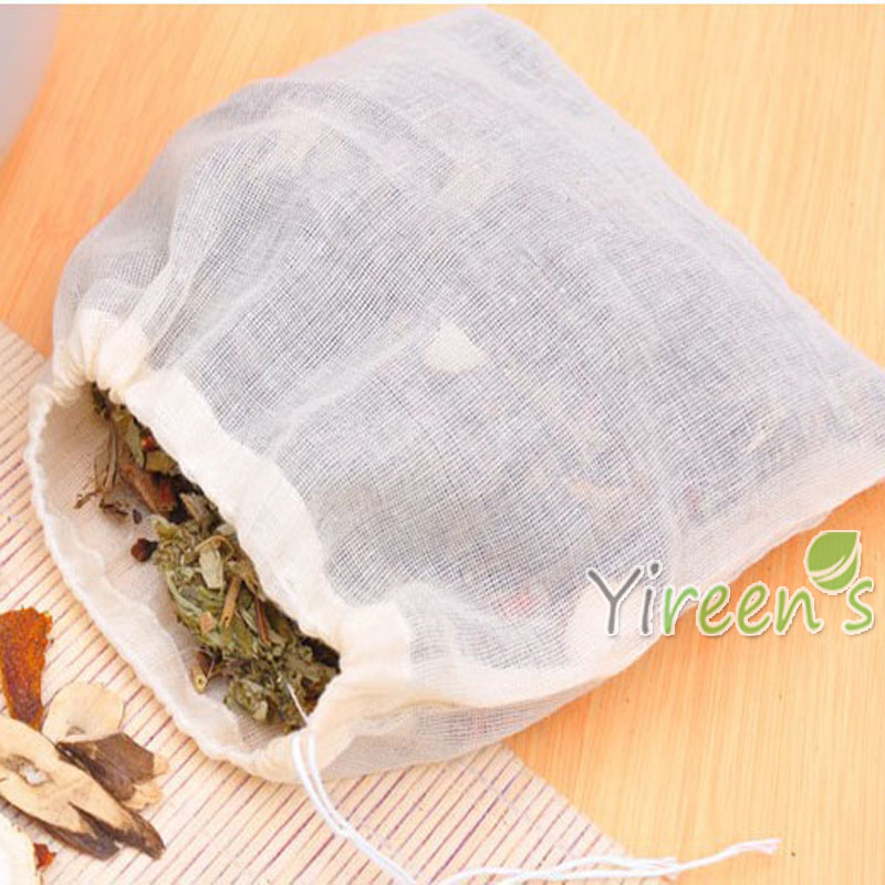 Wholesale 100pcs 200 X 300mm Pure cotton yarn Bags, No bleach cotton Filter Bags, Decorating Medicine Halogen Bags Repeated use