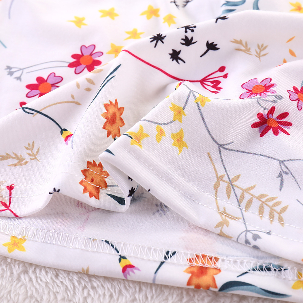 Humor Bear Summer Baby Girls Summer New Clothes Suit Fly Sleeve T-shirt s+Floral Skirt+Headband Kids Party Princess Clothing