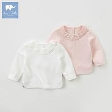 DB5525 dave bella automne infantile bébé filles de mode t-shirt enfants en bas âge belle tops enfants haute qualité tee