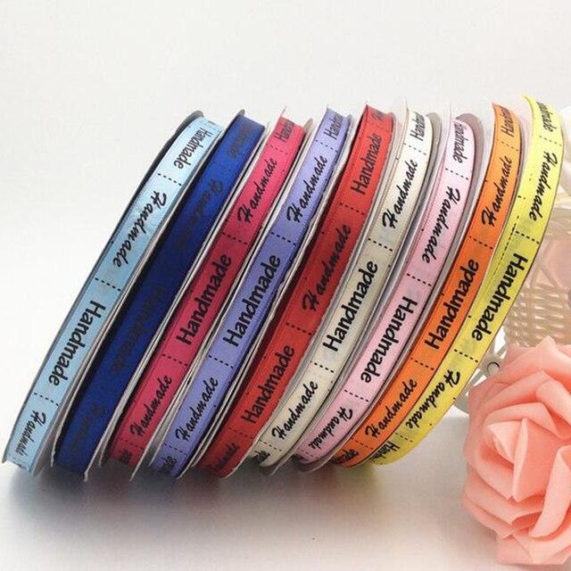 Высокое Качество, Низкая Цена 10 мм Hand Made Ленты Серии Ручной Печатные Ленты Для DIY Упаковка Подарков Аксессуары