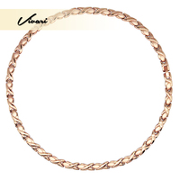 Vivari Trinket Cross Charm 316L Stainless Steel Necklace For Women Magnetic 31Pcs Magnets Jewelry Rose Gold Color Necklaces