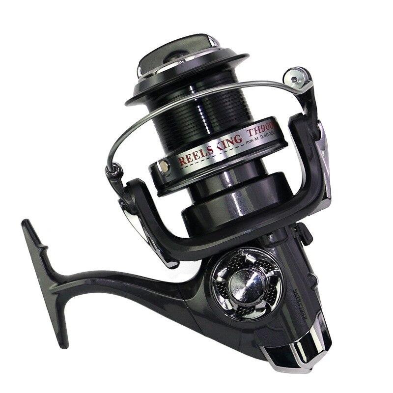 Yumoshi peche moulinet de peche peche a la carpe 8000-11000 moulinet de pêche en mer filature bobine en métal grande bobine de pêche de poisson-chat d'eau salée roue une shimano