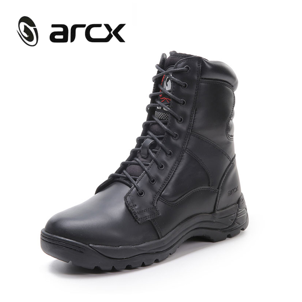 ARCX Motorcycle Boots Genuine Cow Leather Moto Racing Boots Motorbike Chopper Cruiser Touring Riding Shoes carbon fiber front fog light cover for bmw e46