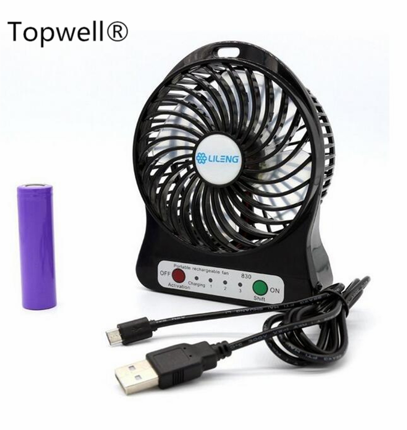 electric rechargeable desktop mini fan portable personal fan 3 speeds with 18650 rechargeable. Black Bedroom Furniture Sets. Home Design Ideas