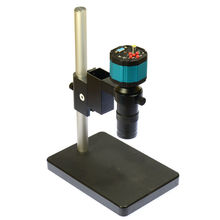 Discount! 2.0MP HD 2in1 Digital Microscope Camera VGA AV TV + 100x C-mount Lens + Stand