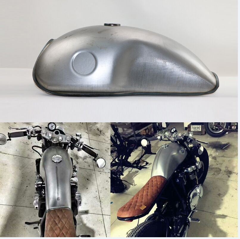 MOTOMAVEN NEW MOJAVE FUEL TANK 750 CAFE RACER TANK BLANK IRON TANK + FILLER CAP 10 Liters with Gas Cap Free Shipping lzone racing black aluminium fuel surge tank with cap foam inside fuel cell 40l without sensor jr tk21bk