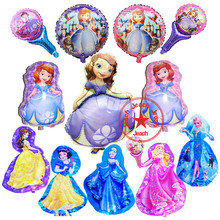 helium balloon princess balloons princess sofia birthday party supplies snow white princess birthday balloons princesa sofia цена