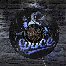 Astronaut Vinyl Record Wall Clock