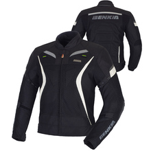 BENKIA Men Motorbike Racing Jacket Motorcycle Racing Jacket Spring Summer Motorcycle Jacket Detachable Windproof Liner