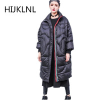 2019 New Women's Winter Down Jacket Coat Loose Fashion Long Size Large Size Coat Thick Warm Outert Tq024