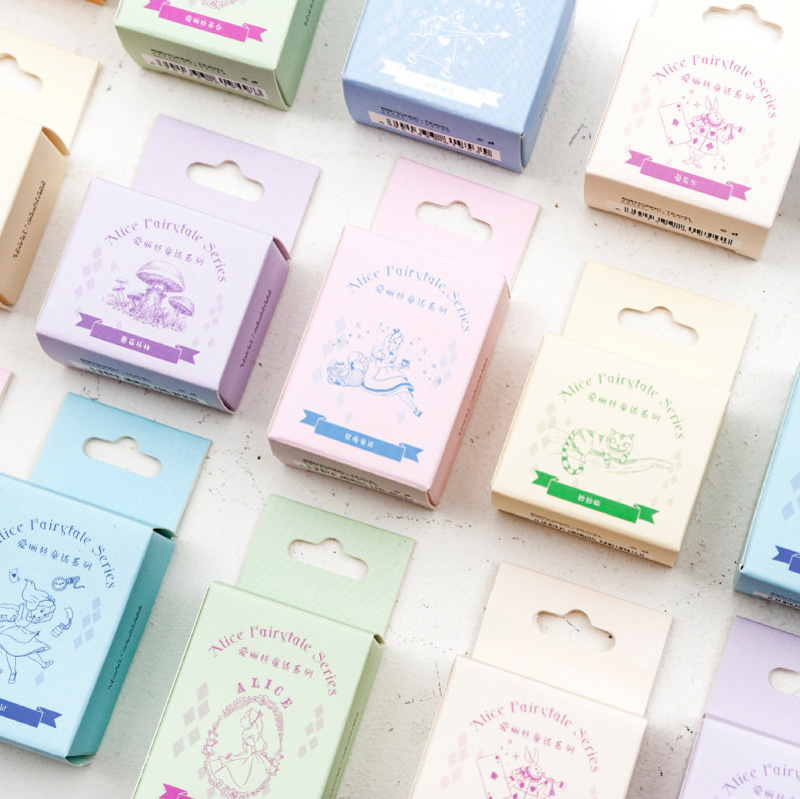 Alice Fairy Tales Series Wood Stamp DIY Craft Wooden Rubber Stamps For Scrapbooking Stationery Scrapbooking Mini Stamp
